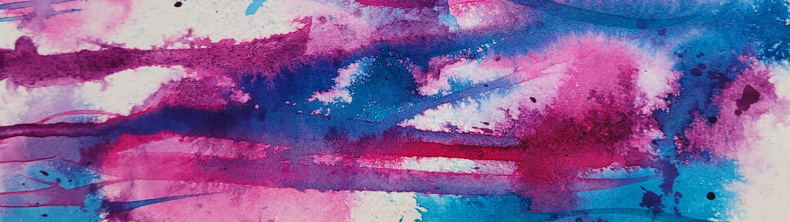 Blue and Pink abstract watercolor background
