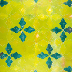 Moroccan Tile Green on Green by