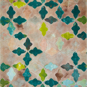 Moroccan Tile Greens on Neutral by