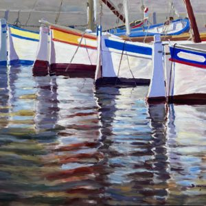 Harbor reflections VII by