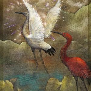 White Crane Red Crane by