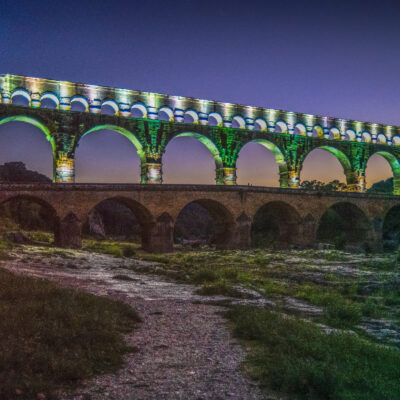 Pont du Gard White-Green by