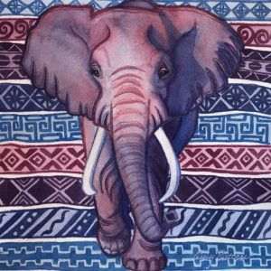 African Elephant (Mudcloth Series) by
