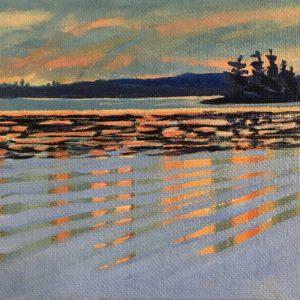 Tahoe Lake at Sunset by