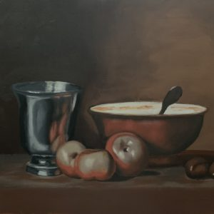 Silver goblet after Chardin by