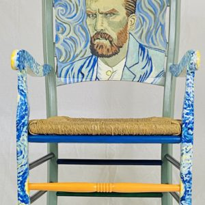Upcycled Van Gogh Armchair by