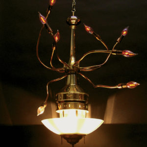 Chandelier Evocative of a Squid by