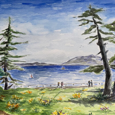 Ocean view from West Cliff in Santa Cruz by