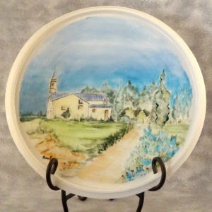 Porcelain plate with landscape by