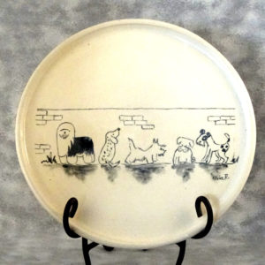 Dog lovers porcelain plate by