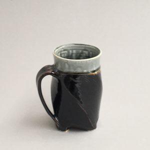 Twisted Tenmoku and Blue Ash Mug by