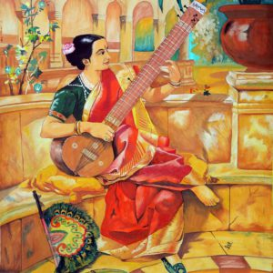 Sitar (Water color) by