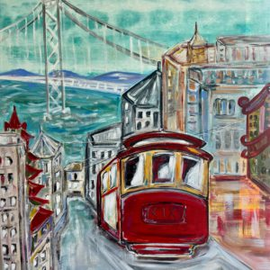 Cable Car in the Bay City by