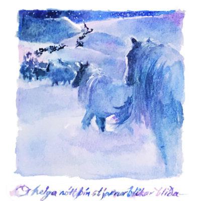 ICELANDIC HORSES ON HOLY NIGHT: A CHRISTMAS DREAM by Karen Olsen