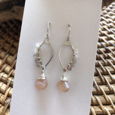Sterling and Moonstone Drops by Kathryn Janoff