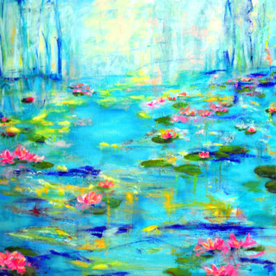 Water lilies lake by Haleh Mahbod