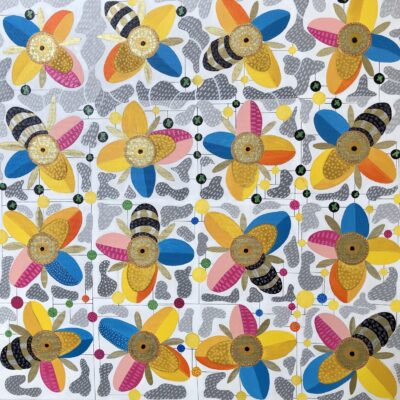 Flowers and Bees by Julia Ive