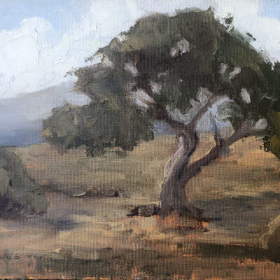 Landscape with Cypress by Patricia Jones