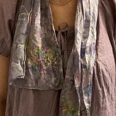Hand-dyed 100 % silk scarf by Kathy Sky Schuyler