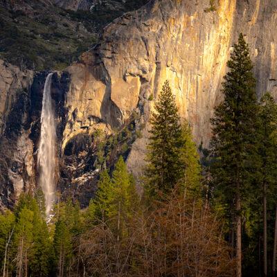 A Shaft of Light on Bridal Veil Falls   Yosemite N by Ida Gamban