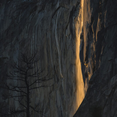 Golden Firefall - Horsetaiil Fall   Yosemite NP by Ida Gamban